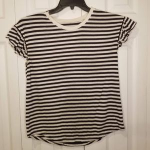 Kate Spade Small Striped Top Ruffled Sleeve